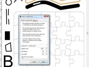 Inkscape to OpenSCAD converter v7