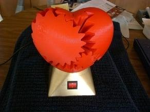 Motorized Big Love Heart Gears