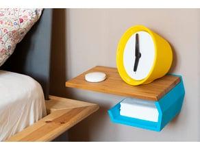 Bedside shelf (from IKEA APTITLIG chopping board)