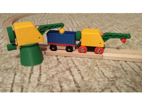 Tower/clever crane and container for wooden track - Brio and Ikea compatible
