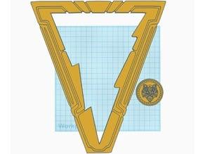 Shazam Movie Emblem and cape clip
