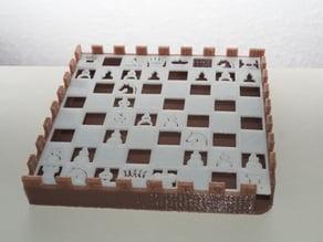 Chess soap holder- porte savon jeux d'échec