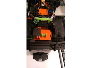 TRX4 Bronco mount for servo-winch on front tray