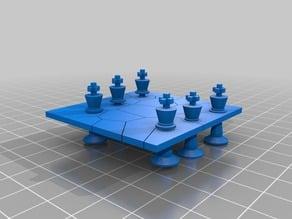 pieces through a board