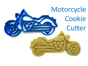 Motorcycle Cookie Cutter (Fondant)