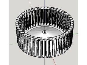 Bath fan impeller adaptation for Broan Bath Fan 683/683-C