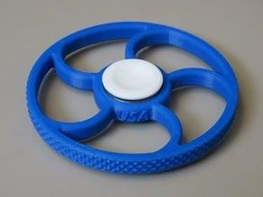 Knurled Round Spinner