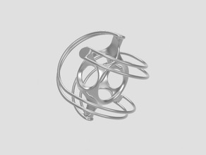 Sphericon - hexagon based sphere - extreme skeletonized - rolling functional sculpture
