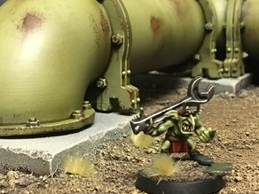 Industrial pipe components for Warhammer40k
