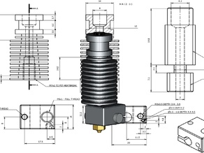 E3D v6 1.75 mm Universal Hotend