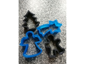 Simple Christmas Cookie Cutters