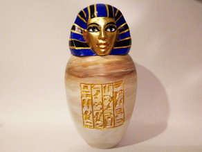 Ancient Egyptian Canopic Jar: Imsety