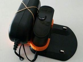 Roomba dock & power supply organizer - Roombaren basea eta elikadorea antolatuak edukitzeko trastea - Organizador para base y alimentador de Roomba