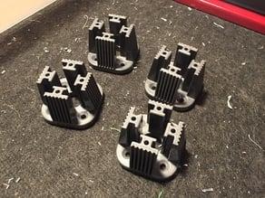 Workbench roller holder for 45x45 Alu Profil (Slot 10, Nut 10)