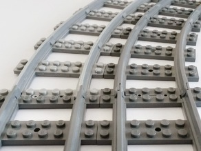 Lego Train Track curved large Radius