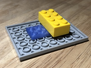 Double Sided 4x2 LEGO plate