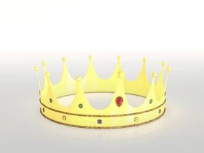 Gold shinny crown