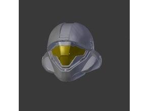 "Halo 5 - Mjolnir - Gen2 - Helljumper - Buck - Helmet - Full Helmet and Broken up for printing on 8""x 10"" x 8"" print bed."