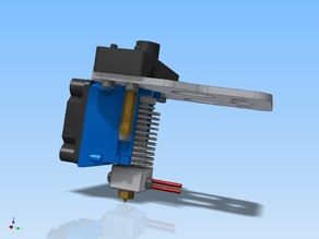 K8200/3Drag E3D v6 HotEnd extruder mount for 40mm fan