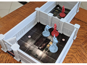 TIL+ Wood Panel Walls and Opening Door for Resident Evil 2 Boardgame