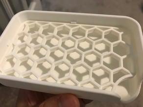Soap holder with locked filler