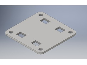 20x20mm Mounting Plate (Abdeckung) with 4 Ziptie Slots