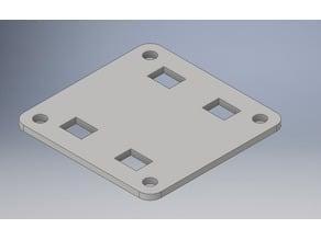 03e37ebc7c3c 20x20mm Mounting Plate (Abdeckung) with 4 Ziptie Slots