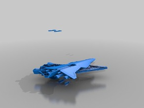 Republic Star Destroyer Cut Parts