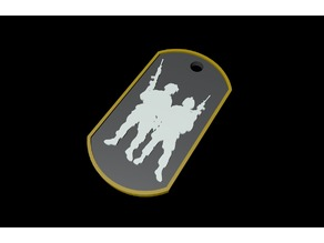 Soldiers DogTag - Keychain