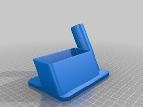 Office pen and business-card holder