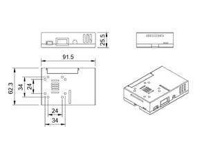 Raspberry Pi 3 Model B CASE with GoPro