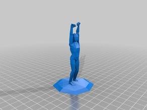 Cheering Man Trophy (I2P Lab)