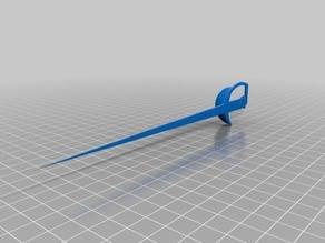 3D печать шпаги для кота в сапогах / 3D print of a sword for a cat in boots