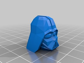 Low-Poly Darth Vader Head