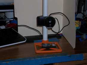 Webcam stand, electronic enlarger