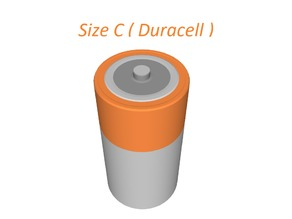 Battery C size (Duracell colors
