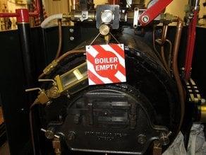 Boiler Empty Sign for Steam Engine