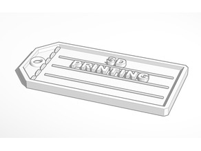 3D Printing Luggage Tag