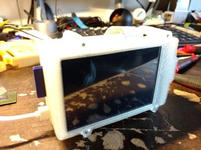 Raspiberry Pi B with 3.5in LCD case