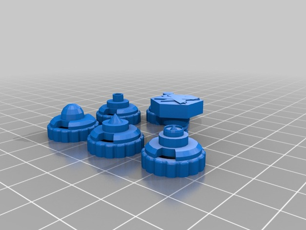 Assorted Bey Tips by koopatroopa - Thingiverse