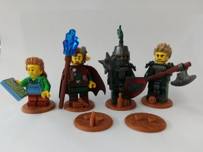 Cobble Base for LEGO minifigs (25mm)
