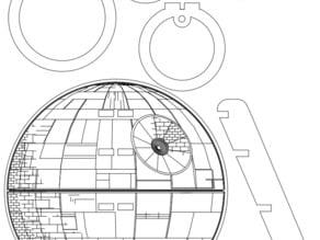 Xmas treetop Deathstar - laser cutter pattern