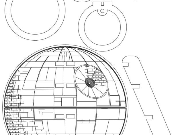 Xmas Treetop Deathstar Laser Cutter Pattern By B0wlb0y