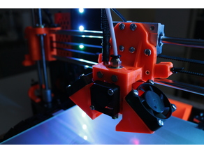 Prusa I3 E3D v6 x-axis carriage for Anet A8