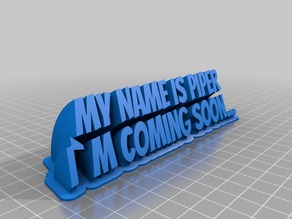 My Customized Sweeping 2-line name plate
