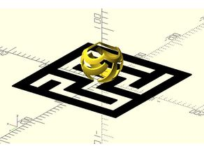 Stereographic projection maze ||