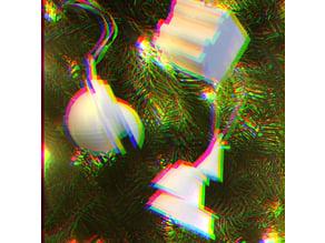 Glitch Christmas Decor