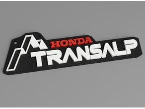 Honda Transalp Keychain optional 2 color print