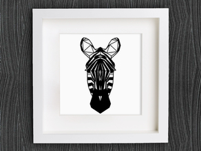 Customizable Origami Zebra Head