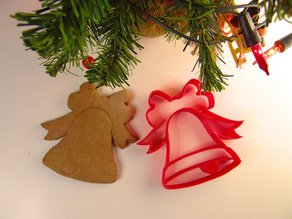 Christmas bell cookie cutter
